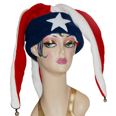 Polar Fleece Jester Style Cap Novelty Patriot Hat