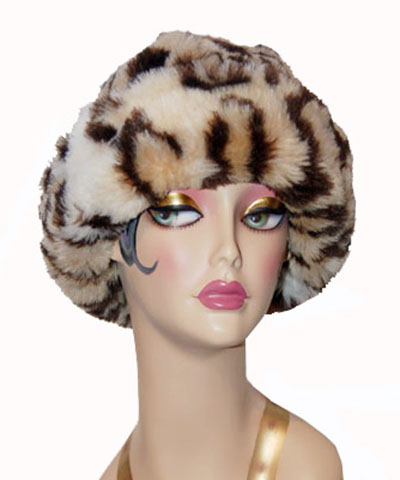 Leopard Faux Fur Cuffed Beanie Hat - WE Hats 824a29687bb
