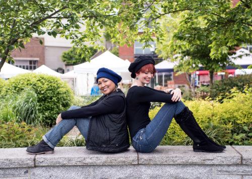 About Us - Mini Beret Polar Fleece Blue Regular Black Hat