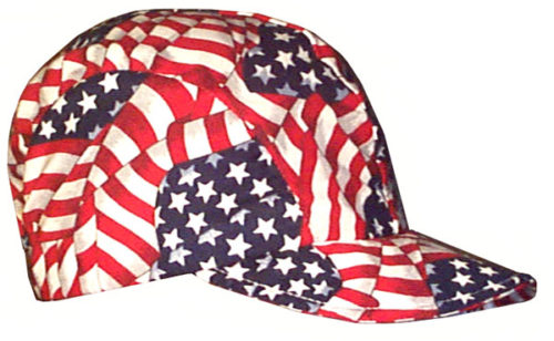 Baseball Style Bike Cap Novelty Hat Patriotic Side