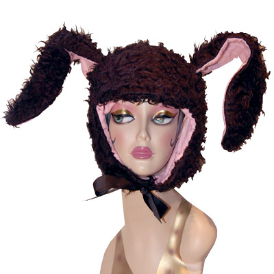 Black Yak Yak Bunny Novelty Animal Hood
