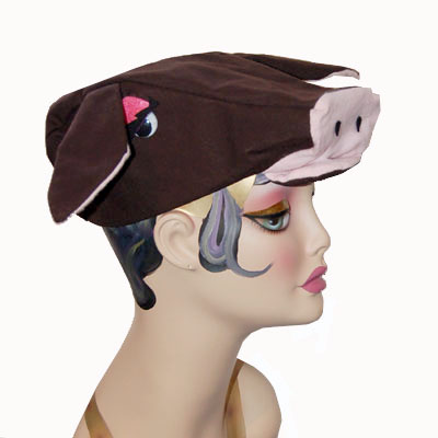 Cow Style Costume Cap Novelty Animal Hat Brown