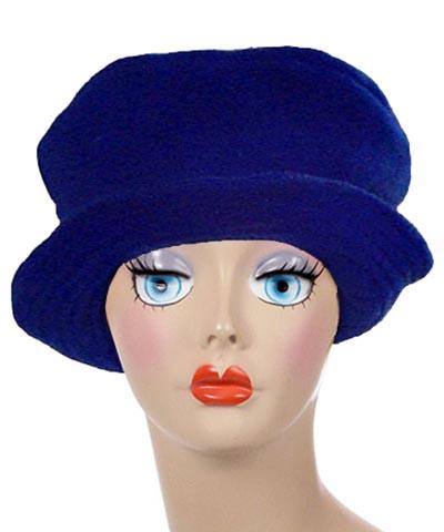 Polar Fleece Coachwoman Hat Royal Blue