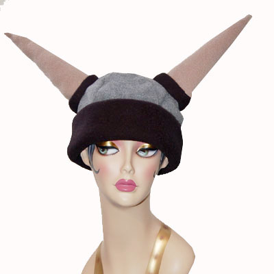Novelty Viking Helmet Polar Fleece Hat