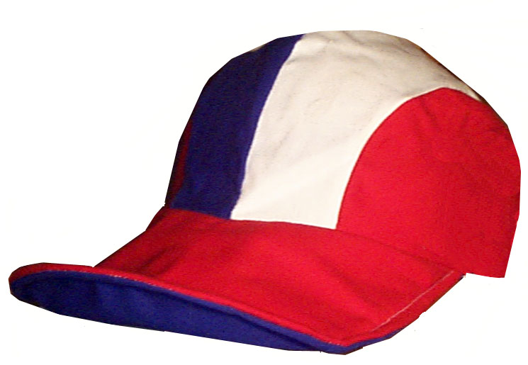 Duckbill Novelty Hat, Red White Blue Side