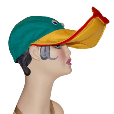 Lippy Duck Style Bird Cap Novelty Animal Hat Green