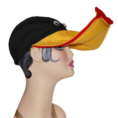 Lippy Duck Style Bird Cap Novelty Animal Hat Black