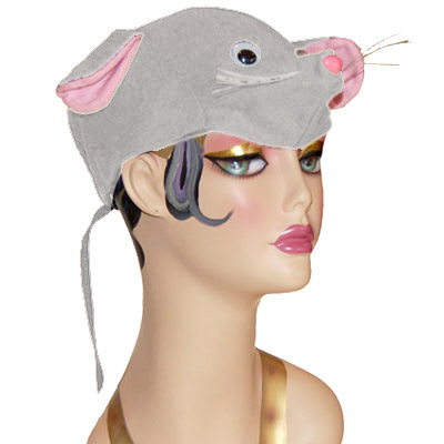 Mouse Style Cap Novelty Animal Hat White