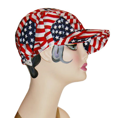 Baseball Style Bike Cap Novelty Hat Patriotic