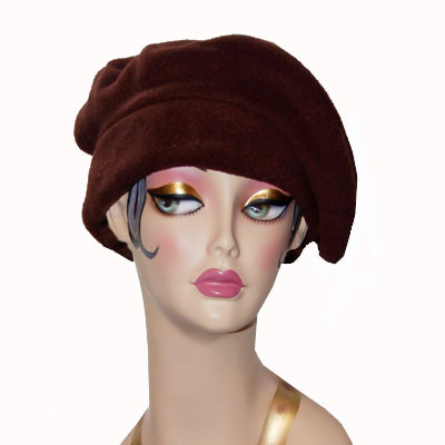 Polar Fleece Mini Beret Hat