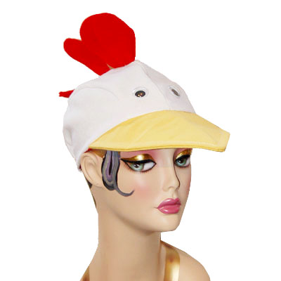 Chicken Style Bird Cap Novelty Animal Hat White