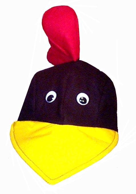 Chicken Style Bird Cap Novelty Animal Hat Black