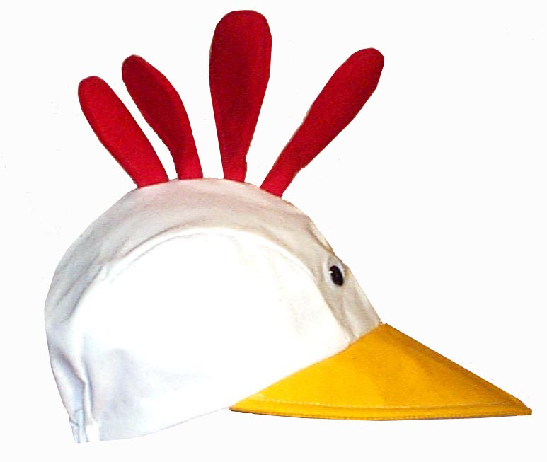 White Chicken Novelty Bird Hat