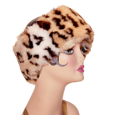 Leopard Print Faux Fur Wide Headband