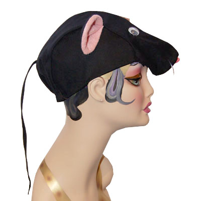Mouse Style Cap Novelty Animal Hat Black