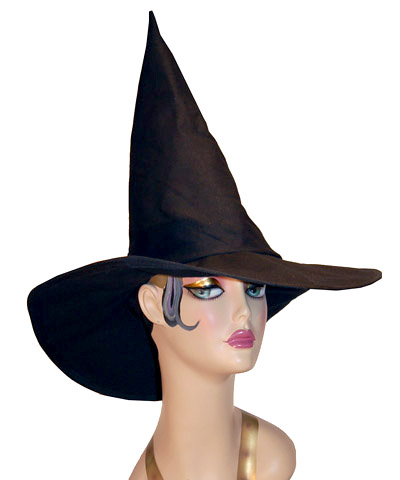 Witch Hat Black Canvas Novelty Pointed Hat