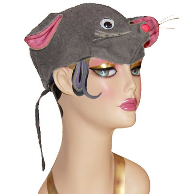 Mouse Style Cap Novelty Animal Hat Gray