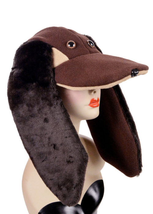 Polar Fleece Faux Fur Hound Dog Style Cap Novelty Animal Hat