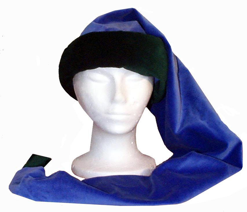"Velveteen Super Sleepy Style Cap Novelty Hat 60"" Blue and Green"