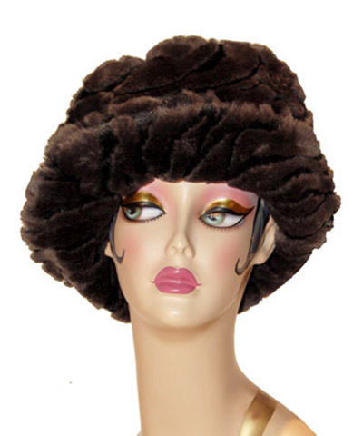 Black Tiger Faux Fur Coachwoman Hat