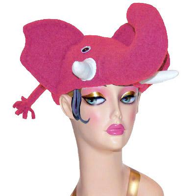 Polar Fleece Elephant Style Cap Novelty Animal Hat Pink