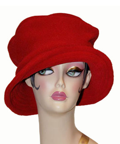 Polar Fleece Coachwoman Hat Red