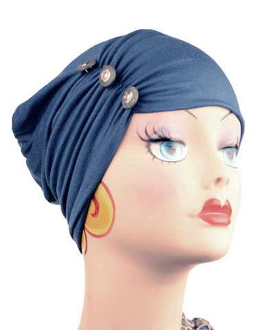 Edith Hat in Candy Shop Jersey Knit in Blue Razz