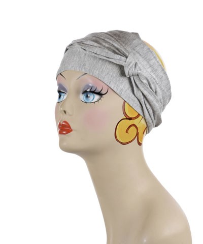 Head Wrap in Candy Shop Jersey Knit in Silver Pear
