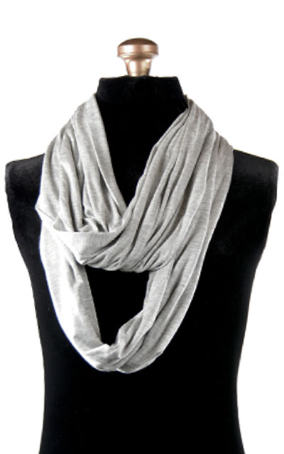 Infinity Scarf in Candy Shop Jersey Knit in Silver Pear