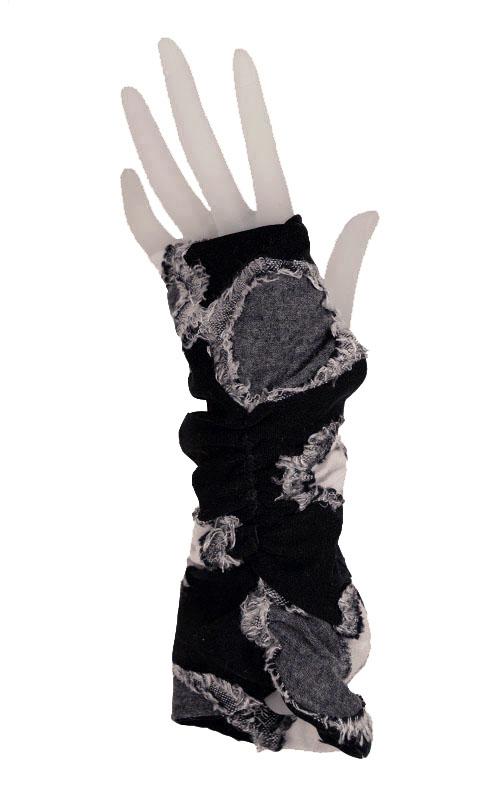Ruched Fingerless Gloves in Splash