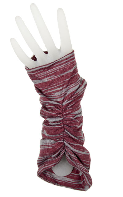 Ruched Fingerless Gloves in Heatwaves in Wildfire