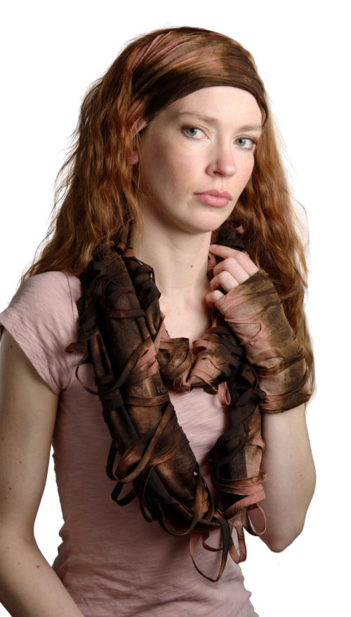 Headband and Infinity Scarf in Sandstone Mummified Mosaics Set