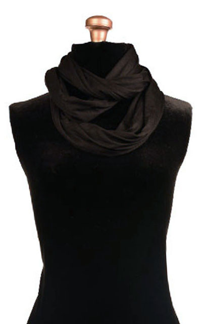 Infinity Scarf in Candy Shop Jersey Knit in Licorice