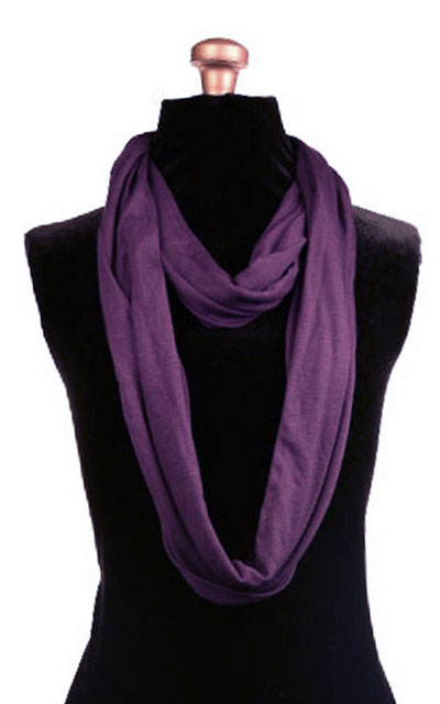 Infinity Scarf in Candy Shop Jersey Knit in Plum Pudding