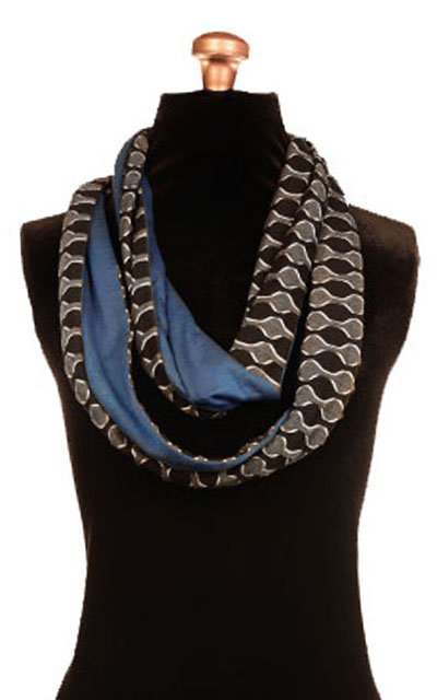 Infinity Scarf in Ribbons with Blue Razz