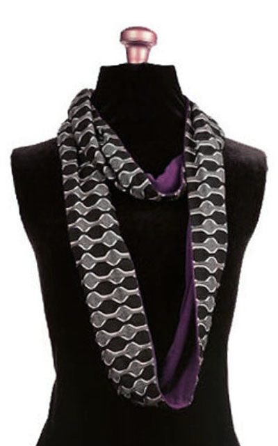 Infinity Scarf in Ribbons with Purple Haze