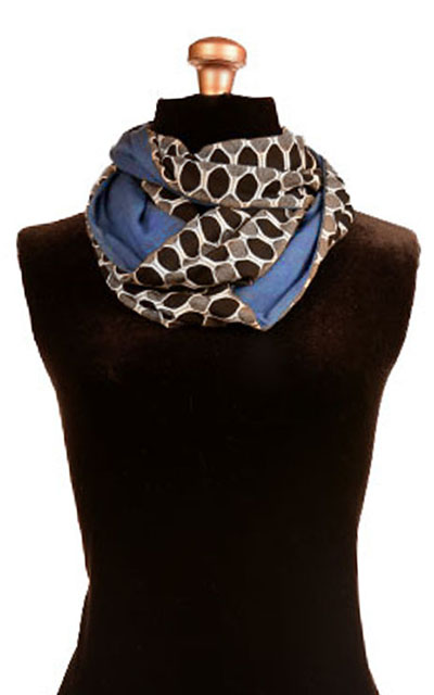 Infinity Scarf in Reeds with Blue Razz