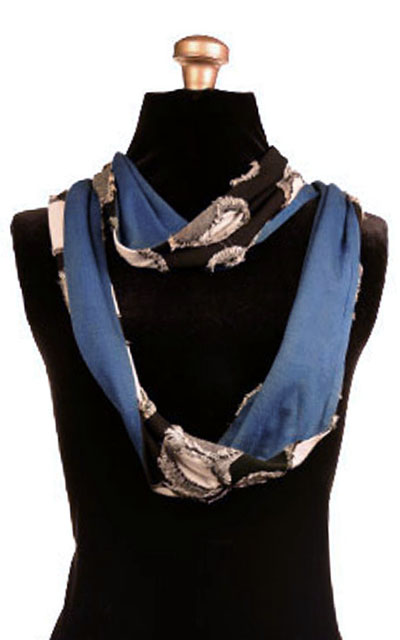 Infinity Scarf in Splash with Blue Razz
