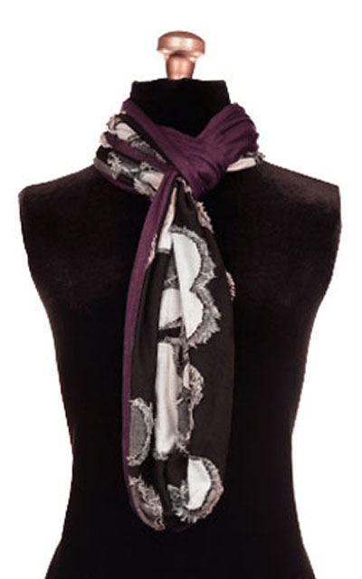 Infinity Scarf in Splash with Plum Pudding