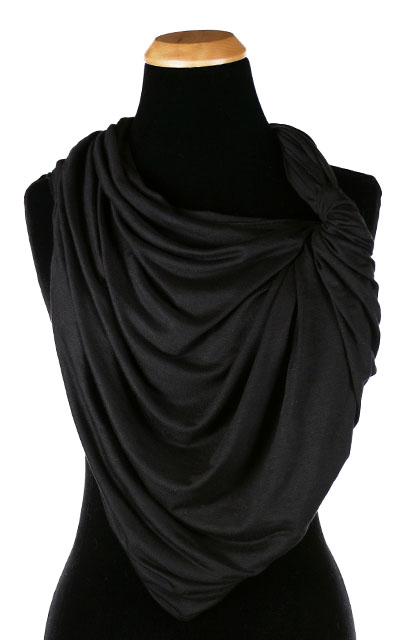 Wide Infinity Scarf in Candy Shop Jersey Knit in Licorice