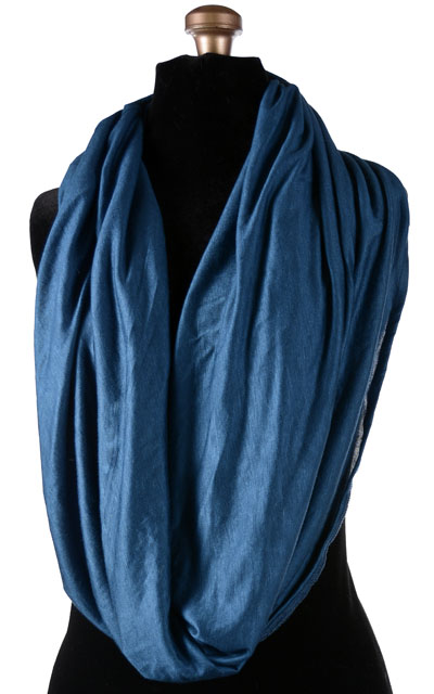 Wide Infinity Scarf in Candy Shop Jersey Knit in Blue Razz