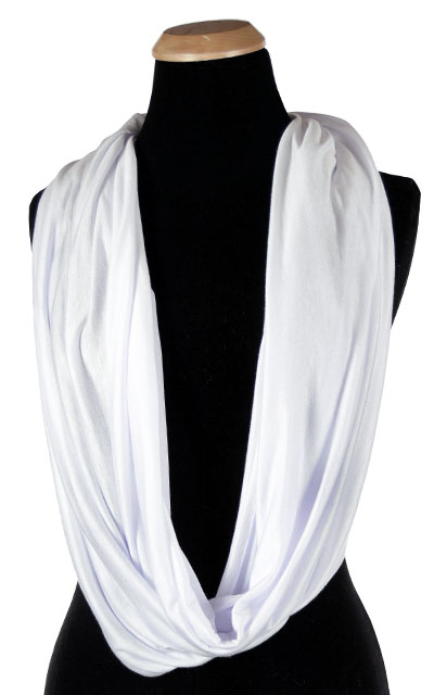 Wide Infinity Scarf in Candy Shop Jersey Knit in Whipped Cream