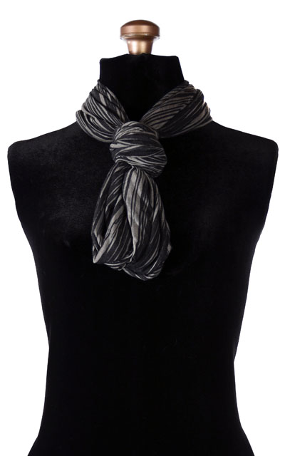 Wide Infinity Scarf in Heatwaves in Cool of the Night - Knotted